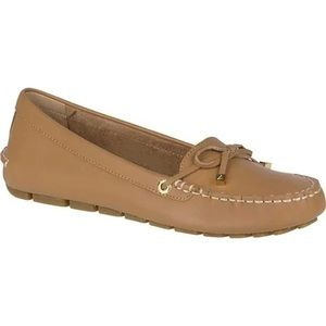 Sperry Katharine tan leather driving Mocs Sz 9.5